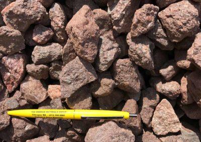 1.5 inch Burgundy Stone