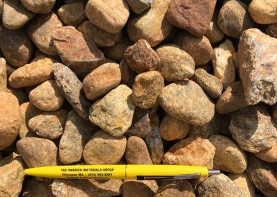 1.5 inch Honey Brown Stone