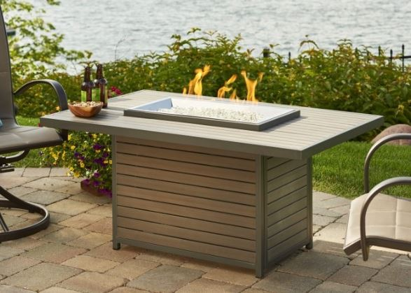 Brooks Propane Fire-Table Outdoor Greatroom