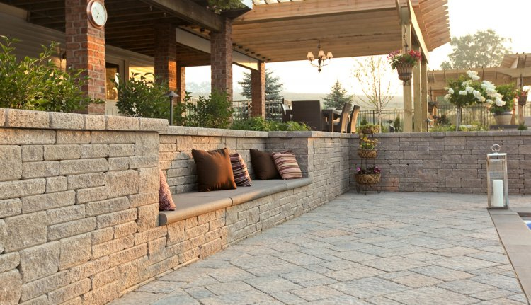Retaining Wall Seating Bench